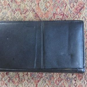 Black leather passport document holder, nwt